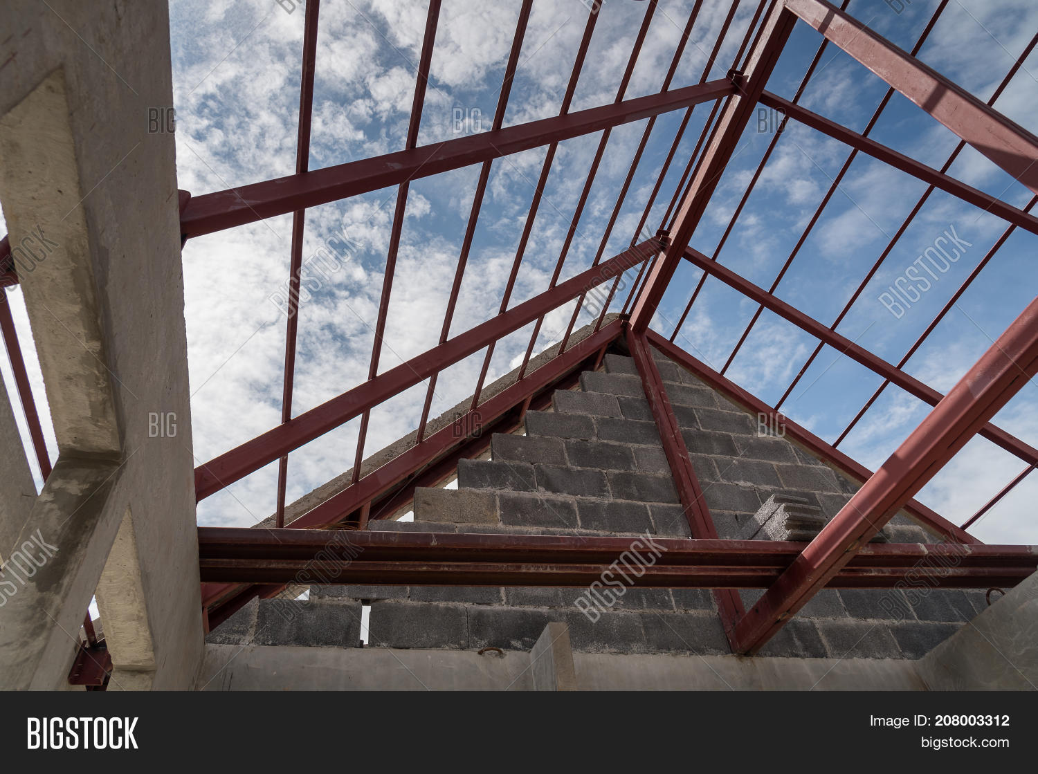 Structural Steel Roof Image Photo Free Trial Bigstock