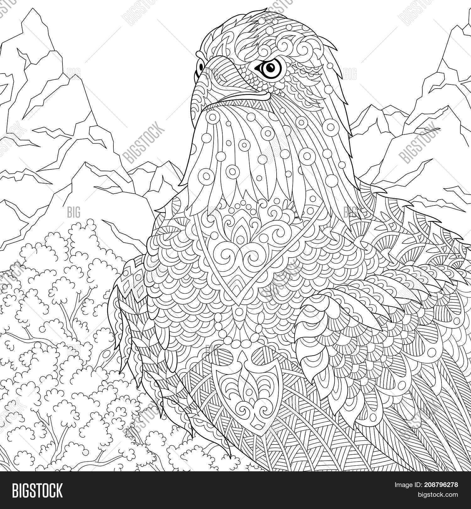 Coloring Page American Image & Photo (Free Trial) | Bigstock