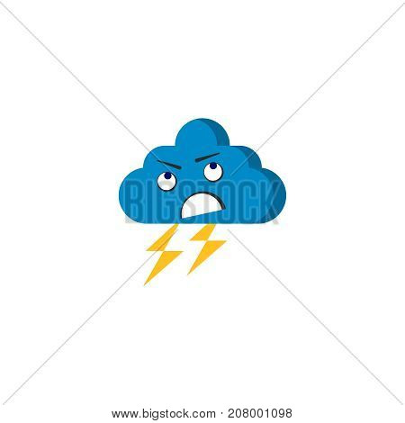 angry storm cloud vector anger cartoon character cloud