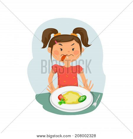 Refusing food, kid does not want to eat