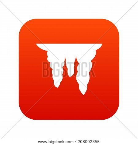 Icicles icon digital red for any design isolated on white vector illustration
