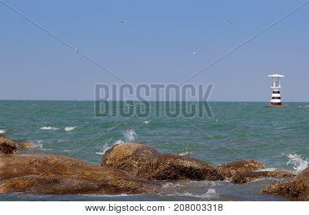 Hua Hin beach in the summer season