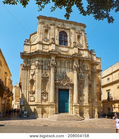Santa Chiara Church In Piazzetta Vittorio Emanuele Ii Square Of Lecce.