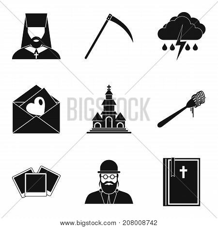 Omen icons set. Simple set of 9 omen vector icons for web isolated on white background