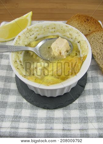 Tasty fresh cooked ragout fin from chicken