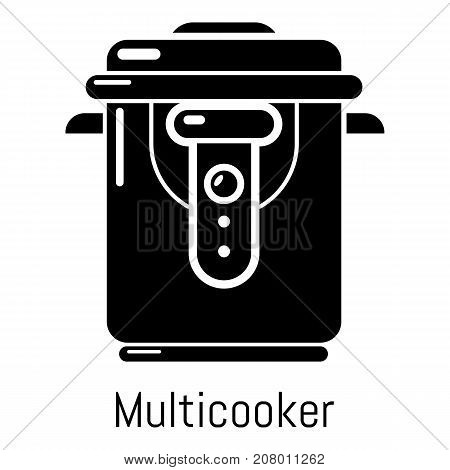 Multi cooker icon. Simple illustration of multi cooker vector icon for web