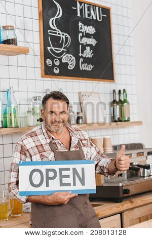 Bartender Showing Thumb Up