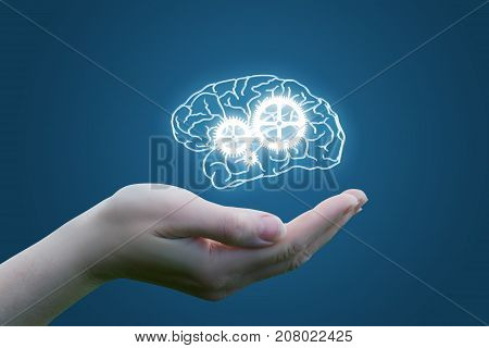 In The Hand Of The Brain With A Mechanism Of Mind Control.