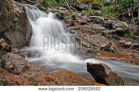 Waterfall  In Eastern Sayan