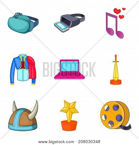 Special effect icons set. Cartoon set of 9 special effect vector icons for web isolated on white background