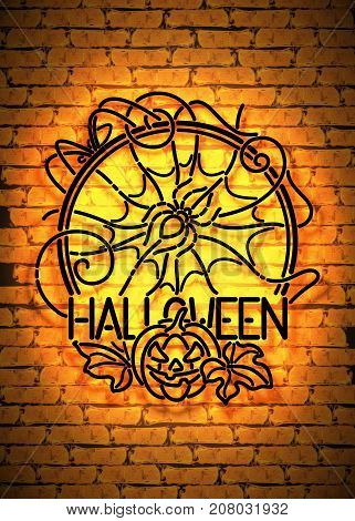 Happy Halloween Greeting Card Template