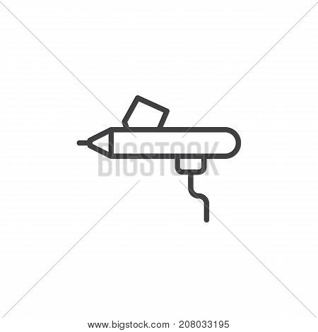 Airbrush line icon, outline vector sign, linear style pictogram isolated on white. Symbol, logo illustration. Editable stroke