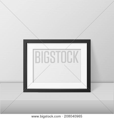 Vector realistic blank picture frame template set isolated. EPS10 illustration.