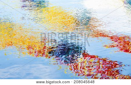 Bright Colorful Reflections, Abstract Background