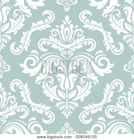 Seamless classic white pattern. Traditional orient ornament. Classic vintage background
