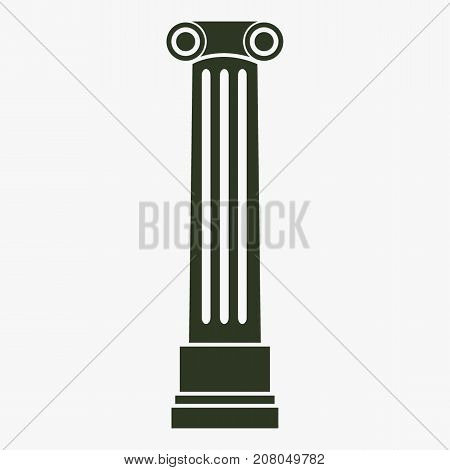 Antique column pillar vector icon. Ancient column sign.