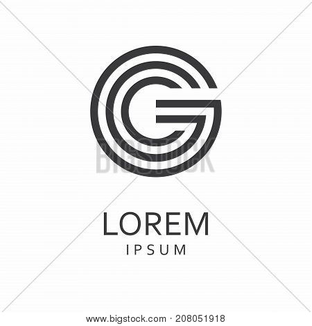 Letter G logo. Icon design. Template elements