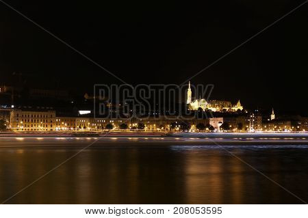 View On The Old Fishermen Bastion In Budapest. Hungary.