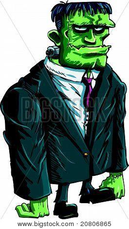 Cartoon Frankenstein boss
