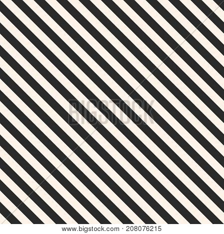 Vector stripes seamless pattern. Repeat diagonal lines texture, 45 degrees inclination. Subtle abstract geometric background. Black and white. Simple striped template. Stripes pattern. Diagonal pattern. Lines patetrn. Geometric pattern.