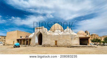 Toki Zargaron, ancient trading domes in Bukhara, Uzbekistan. Central Asia