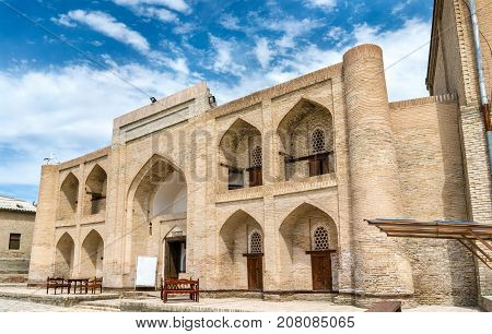 Ancient buildings in the old town of Bukhara, Uzbekistan. Central Asia