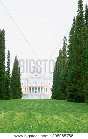 Palace Sliding Hill In The Park Of Lomonosov In The Autumn