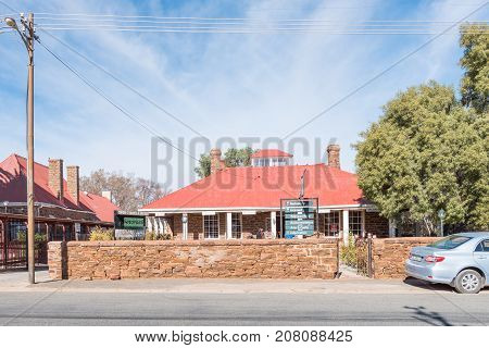 GRIEKWASTAD SOUTH AFRICA - JUNE 11 2017: A restaurant and craft shop in Griekwastad a small town in the Northern Cape Province