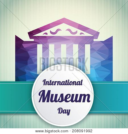 International Museum Day, 18 May. Heritage museum monument building conceptual illustration vector.