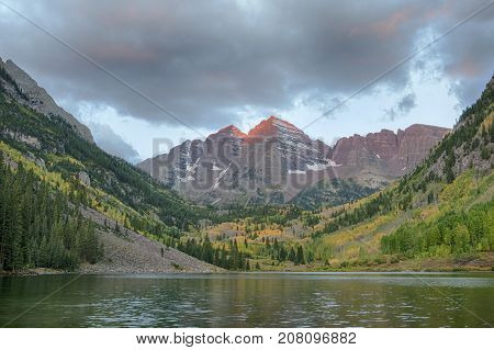 Sunrise in Maroon Bells, Aspen, Colorado state
