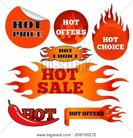 Vector badges shop product hot sale best price stickers and buy commerce advertising tag symbol discount promotion vector illustration. Paper store hot button mark special best banner.