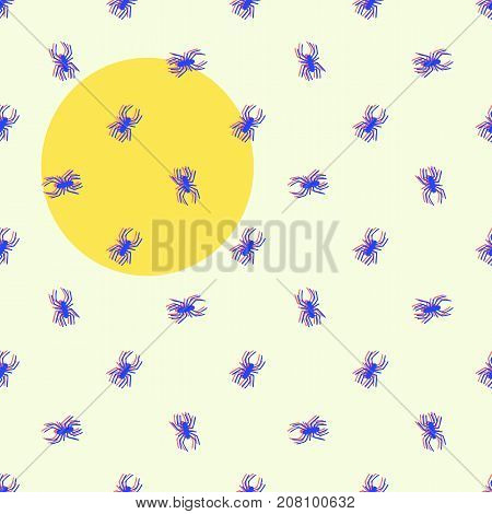 Seamless pattern with spiders. Halloween background. vector illustration