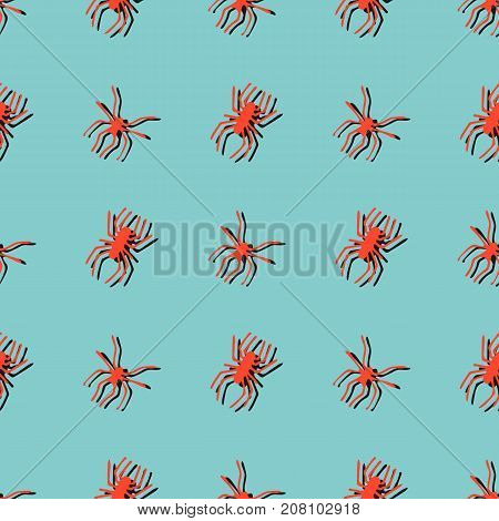Seamless Pattern With Spiders.