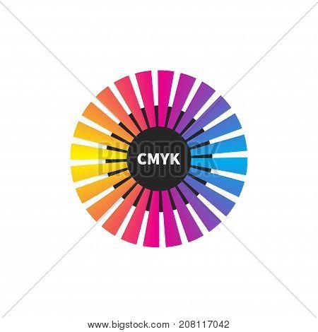 Palette CMYK. Logo of print house. - stock vector