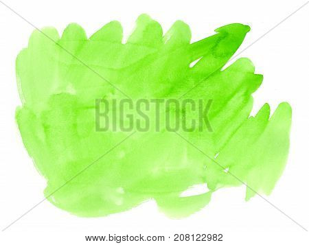 Artistic Lime Daub With Watercolor