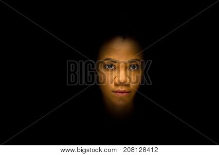 Mysterious Night Portrait Of An African Woman