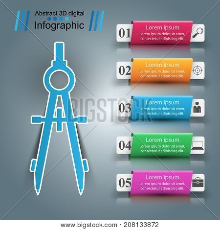 Devider business paper infographic. Vector eps 10