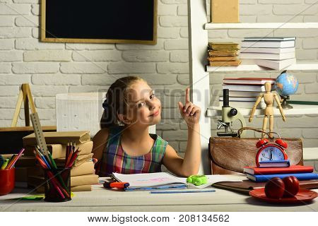 Kid With Colorful Stationery Has New Idea