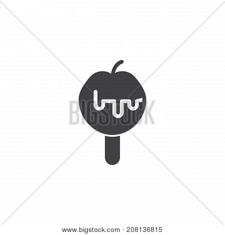 Caramelized apple icon vector, filled flat sign, solid pictogram isolated on white. Symbol, logo illustration.