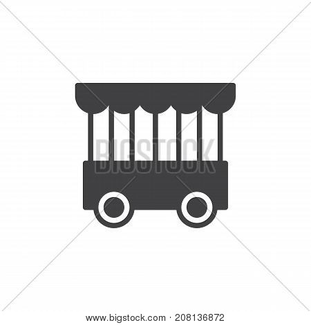 Mobile animal cage icon vector, filled flat sign, solid pictogram isolated on white. Symbol, logo illustration.