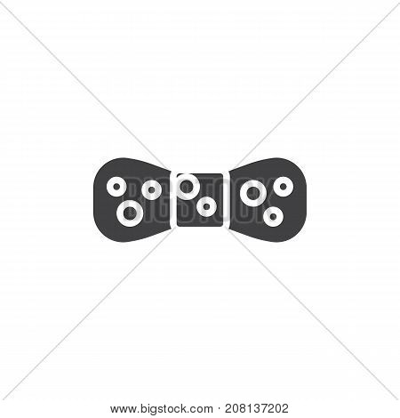 Bow tie icon vector, filled flat sign, solid pictogram isolated on white. Symbol, logo illustration.