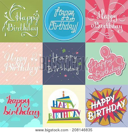 Beautiful birthday vector photo free trial bigstock beautiful birthday invitation card design colorful lettering poctcard vector greeting decoration strips lettering calligraphy text create a lightbox stopboris Image collections
