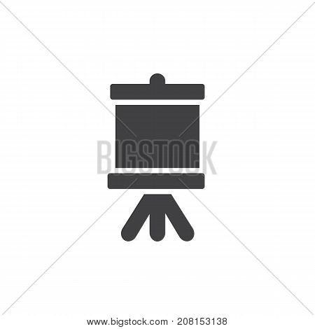 Easel with canvas icon vector, filled flat sign, solid pictogram isolated on white. Symbol, logo illustration.