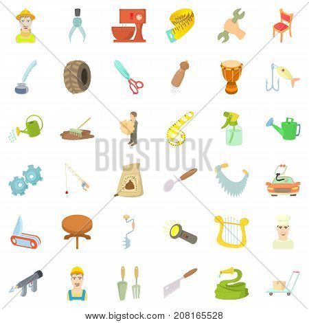 Repair icons set. Cartoon style of 36 repair vector icons for web isolated on white background