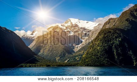 Lake And Mountain Landscape In New Zealand