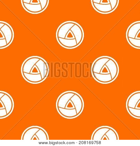 Objective pattern repeat seamless in orange color for any design. Vector geometric illustration