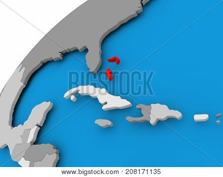 Map Of Bahamas In Red