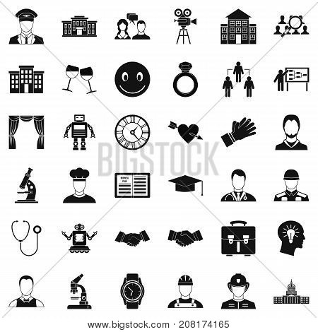 Applause icons set. Simple style of 36 applause vector icons for web isolated on white background
