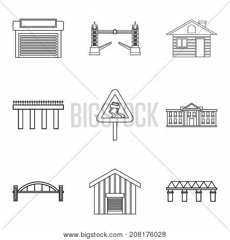 City lifestyle icons set. Outline set of 9 city lifestyle vector icons for web isolated on white background