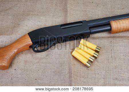 Pump Action Shotgun